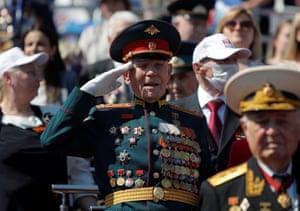 A veteran makes a salute