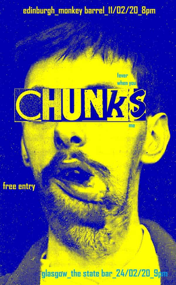 A poster for the Chunks comedy night.