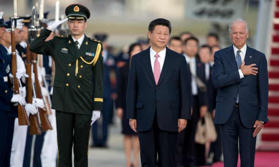 'Aggressively assertive international policies': Xi Jinping and Joe Biden in September 2015