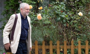 Jeremy Corbyn leaves his home