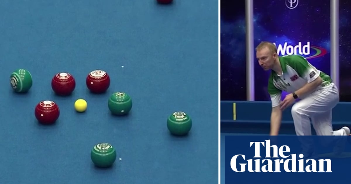 'That is ridiculous': brilliant bowls shot lights up World Indoor Championships – video
