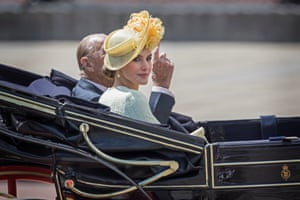 London, England Prince Philip rides in a carriage with Spain's Queen Letizia