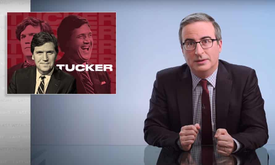 """John Oliver on Fox News host Tucker Carlson: """"The most prominent vessel in America for white supremacist talking points."""""""