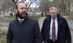Rick Gates, left, with his lawyer Tom Green