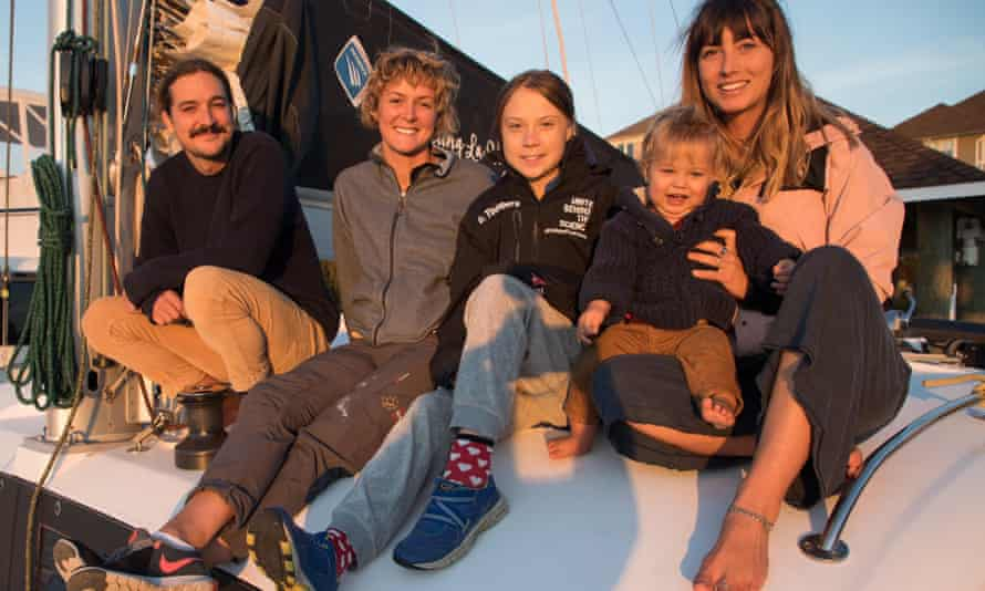 Greta Thunberg sets sail from the US, set for Europe, as a passenger on a small sailing yacht.