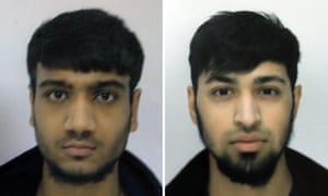 Hassan Munshi, left, and Talha Asmal, both 17, who are believed to have travelled to Syria at Easter. Asmal is thought to have become Britain's youngest suicide bomber.