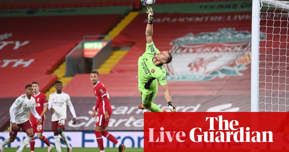 Liverpool v Arsenal: Carabao Cup fourth round – live!