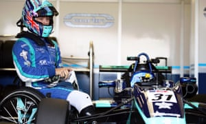 Billy Monger prepares for a race at the Euroformula Open Series race at Silverstone in September 2019.