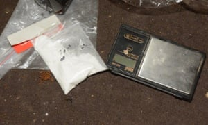 Bagged substance and weighing scales