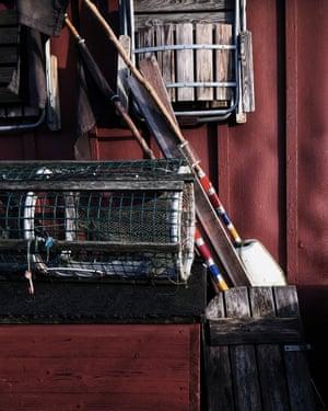 An assortment of objects in a sjöbodar (sea hut) on the west coast of Sweden.