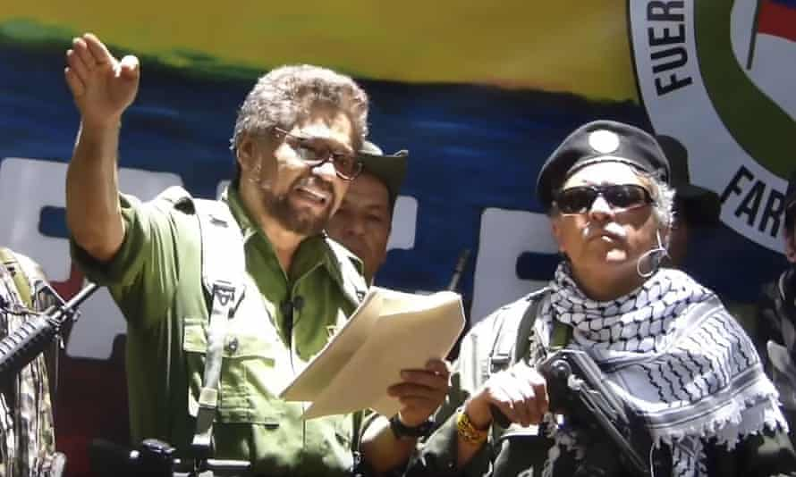 In their announcement, Márquez and Santrich said they would be forming a 'new guerrilla' to continue in arms against the government.