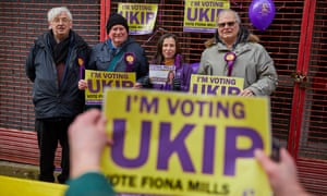 Ukip candidate Fiona Mills and supporters canvassing in the Copeland byelection in February