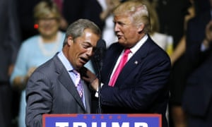 Donald Trump said he could meet his 'friends' Nigel Farage and Boris Johnson on his state visit to the UK next week