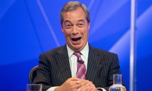 Nigel Farage during an episode of Question Time in 2015.