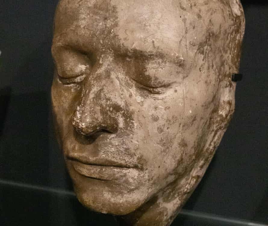 The death mask of John Keats, on display in Winchester, UK.