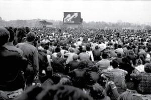 Crowds in Leningrad, USSR