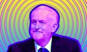 Psychedelic Jeremy Corbyn