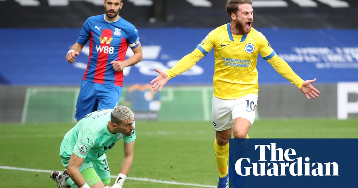Brightons Mac Allister earns late point at Crystal Palace before Dunk red card