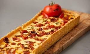 'Here today, gone tomato' quiche