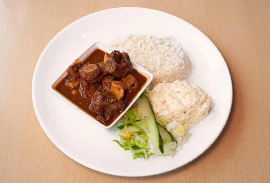 'Deep, rich and sustaining': glossy oxtail stew.