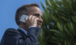 Mark Carney in Sintra Portugal, where he said on Wednesday some removal of stimulus could become necessary. His comments sent the pound up almost a cent against the dollar, and pushed it above $1.30 on Thursday