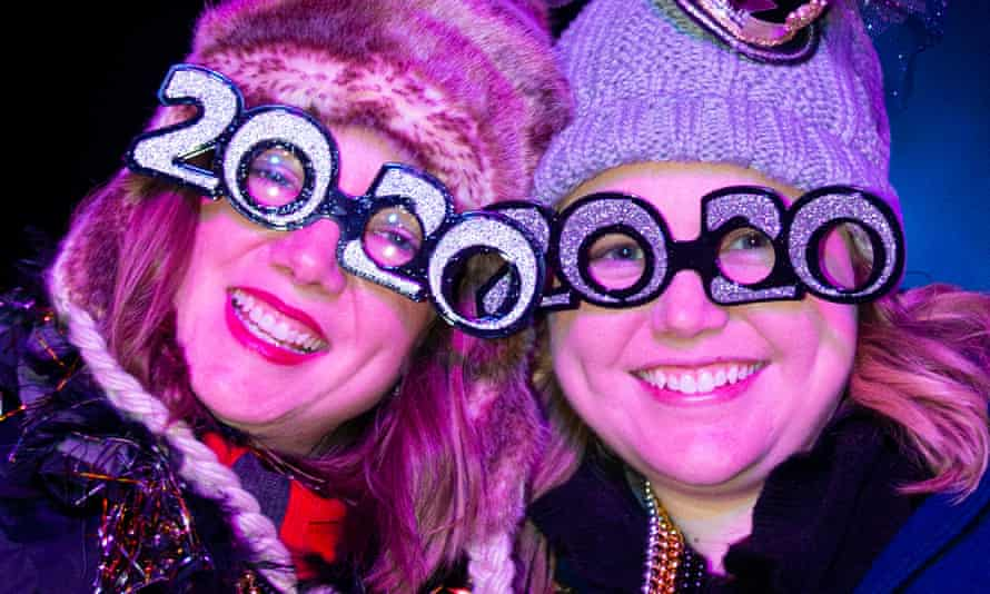 Celebrating Hogmanay in Edinburgh last year – this year it's online only.