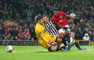 Anthony Martial slots home for United's second.