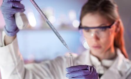 Research scientist in a laboratory