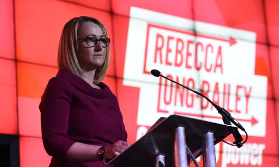Rebecca Long-Bailey at her campaign launch