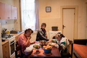 Nada Sobasic, 61, Hrvoje Sebalj, 38, Gabriejela Butorac, 78, in their apartment