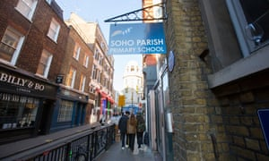 Soho Parish primary school in central London.