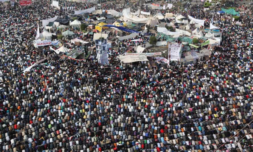 tahrir square prayer