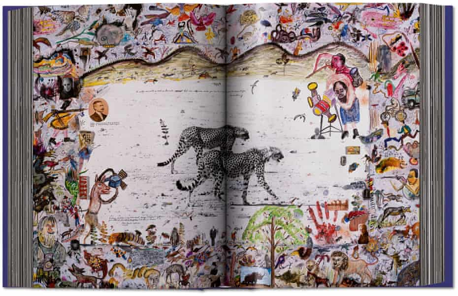 a spread from the book Peter Beard, published by Taschen.