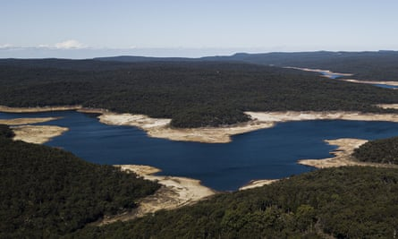 The Cataract Dam, the oldest dam in Sydney's water supply system, which is currently sitting at just 29% of capacity