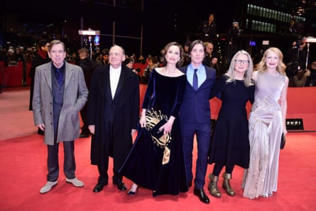 Timothy Spall, Bruno Ganz, Kristin Scott Thomas, Cillian Murphy, Sally Potter and Patricia Clarkson at the Berlin premiere of Potter's The Party.