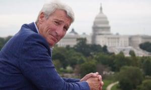 Jeremy Paxman 'spraying linguistic lava' around Washington DC for Panorama.