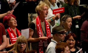 Delegates at Labour's Brighton conference