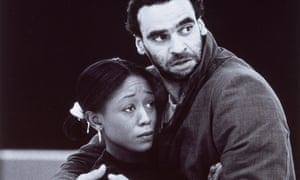 'Our policy was to give black actors work they weren't being offered' … Ben Thomas and Diane Parish rehearsing King Lear in 1994