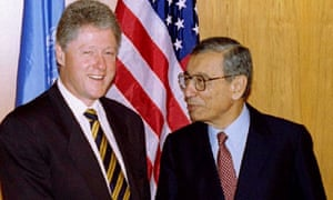 Boutros-Ghali with Bill Clinton in 1996.