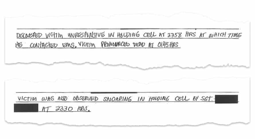 The police report about Galvan's death.