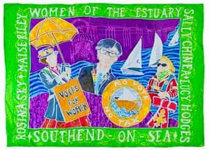 Banner made by Kinetika, Purfleet, Essex, working with artist Ali Pretty