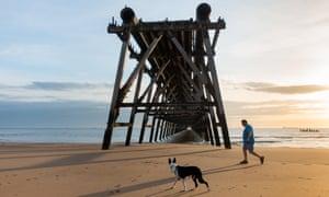 Steetley pier, Headland beach, Hartlepool.