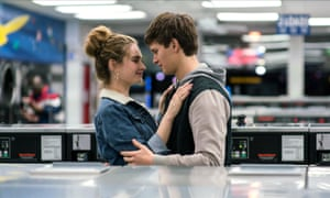 Lily James and Ansel Elgort in Baby Driver.