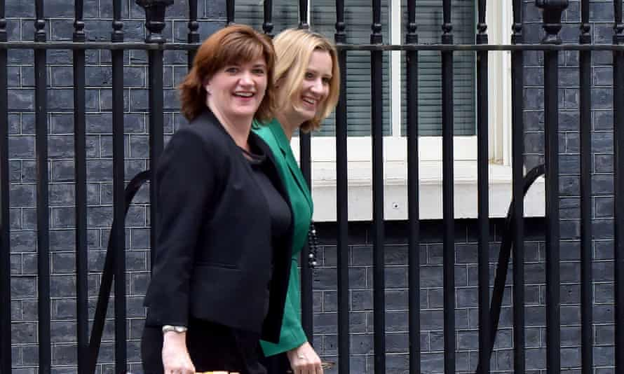 Nicky Morgan and Amber Rudd  in 2015