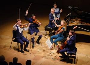 Tthe Doric String Quartet with pianist Alasdair Beatson at the Britten weekend.
