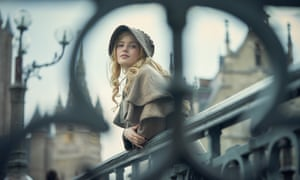 Ellie Bamber as Cosette in BBC TV's Les Misérables.