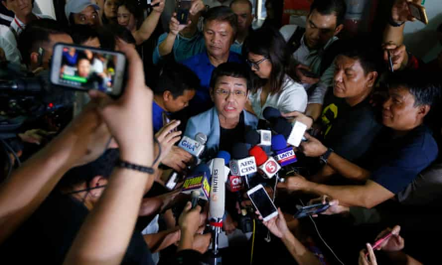 'At one point, journalist Maria Ressa, was receiving 90 hate messages an hour on Facebook alone.'