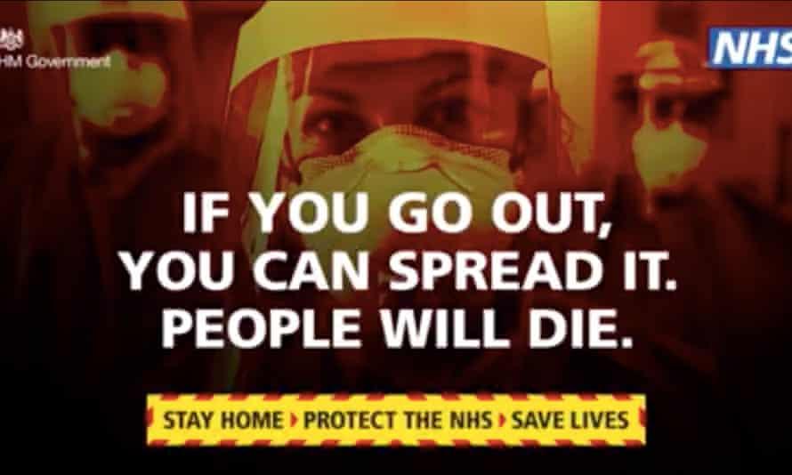NHS public information advert during coronavirus pandemic