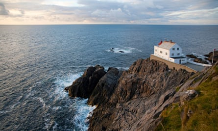 Kråkenes lighthouse, Vagsoy, North Atlantic, Sogn og Fjordane, Norway