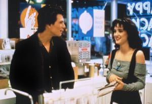 By the end of Heathers, her character, Veronica, was as dark as Christian Slater's JD, dropping the shoulder pads in favour of a tougher Bardot top street look to match his Jack Nicholson impersonation.
